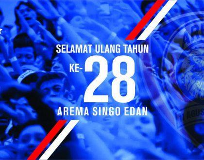 Selamat Ulang Tahun ke-28 Arema