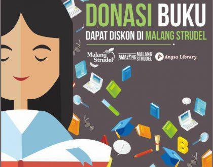 Donasi Buku Dapat Diskon di Malang Strudel