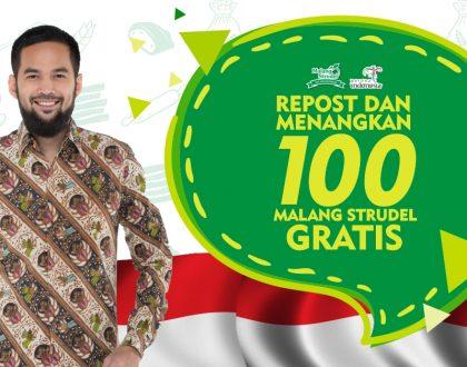 Giveaway Seru, Repost dan Menangkan 100 Malang Strudel!