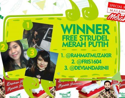 Pemenang Repost and Win Malang Strudel Merah Putih!