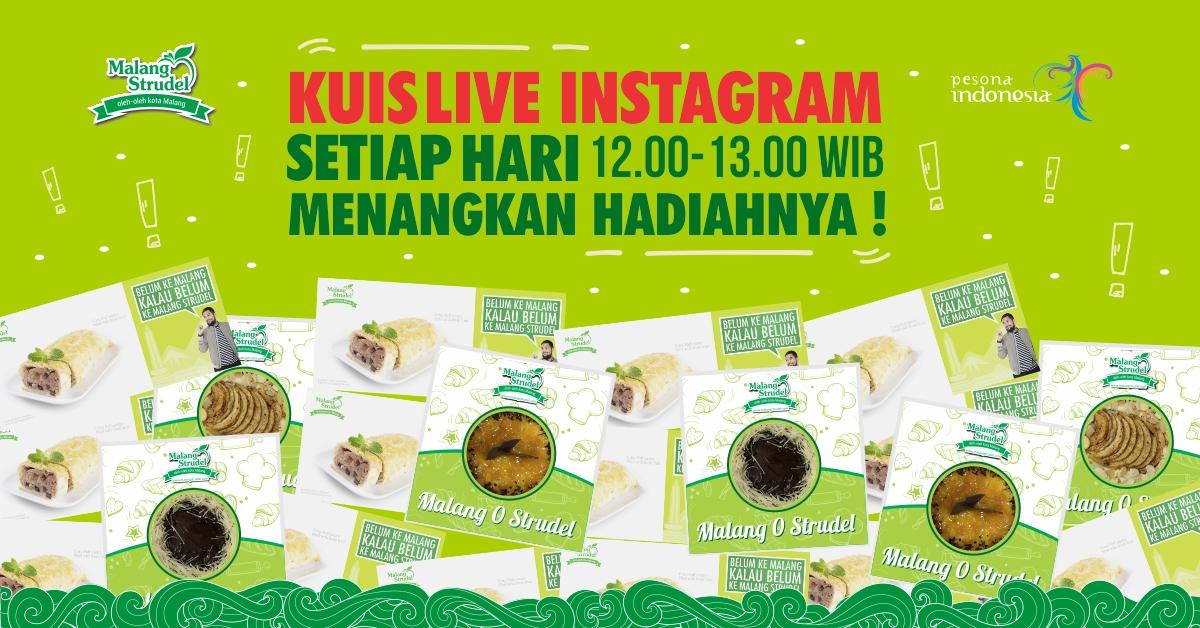 Gabung Instagram Live Malang Strudel, Dapatkan banyak hadiah! Mau?
