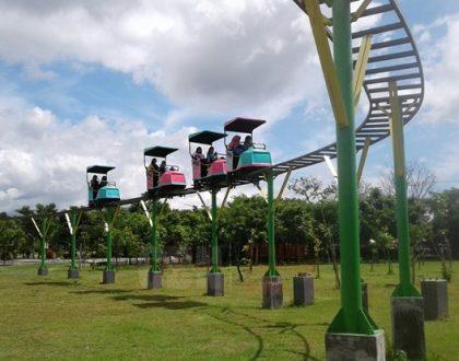 Cobain Wahana Skybike Gratis Di Taman Singha Merjosari