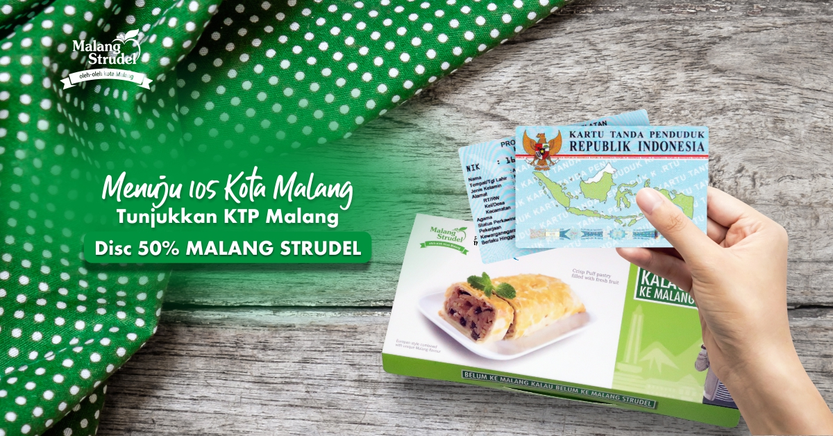 Menuju 105 Tahun Kota Malang, Malang Strudel Diskon 50%!