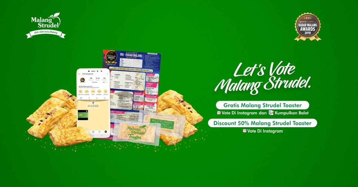 Gratisss Malang Strudel Toaster Untuk Kamu Yang Sudah Vote Malang Strudel Di Radar Malang Awards!