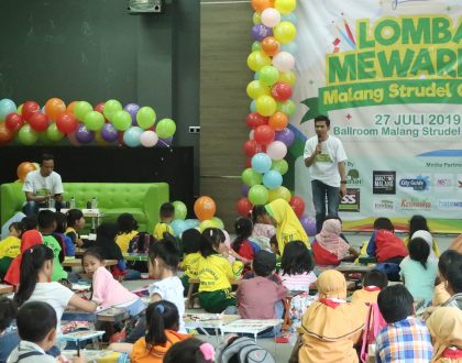 150 Anak Beradu Bakat Mewarna Di Lomba Mewarna Malang Strudel Gelato!