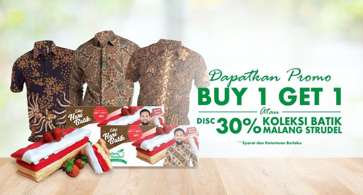 Spesial Hari Batik Nasional, Malang Strudel Diskon Koleksi Batik!